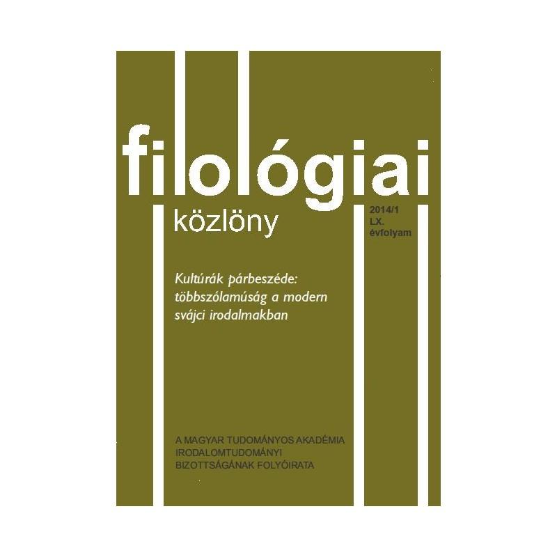 Filológiai Közlöny 2014/1