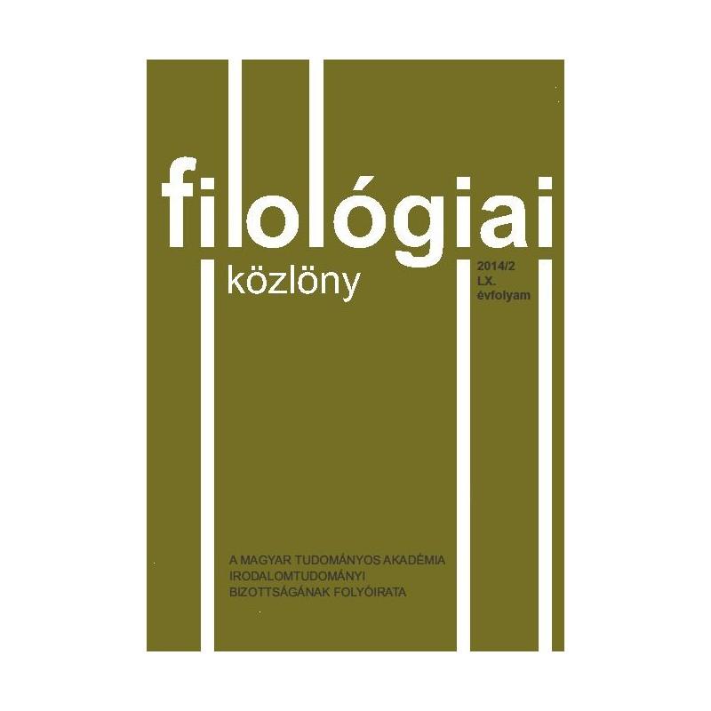 Filológiai Közlöny 2014/2