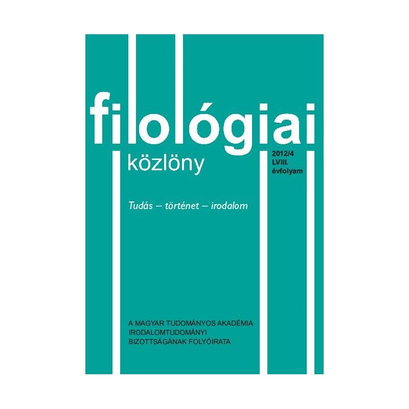 Filológiai Közlöny 2012/4