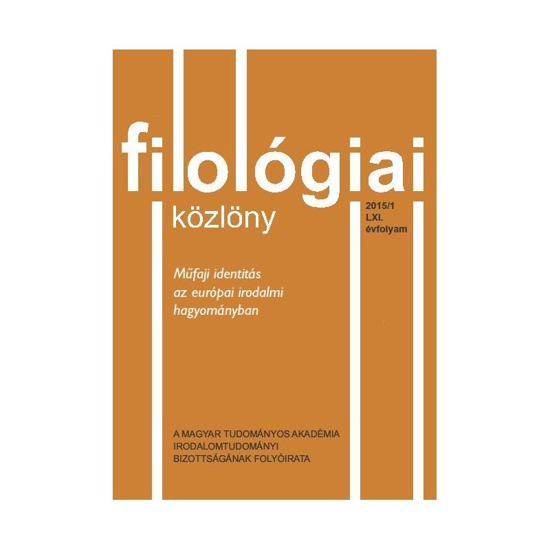Filológiai Közlöny 2015/1