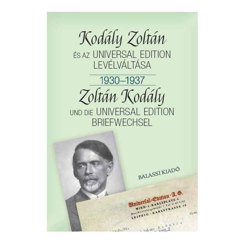 Kodály Zoltán és az Universal Edition levélváltása I. 1930--1937