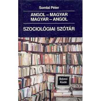 Somlai Péter, Angol–magyar és magyar–angol szociológiai szótár