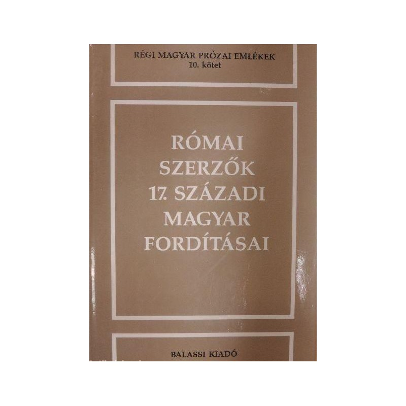 Római szerzők 17. századi magyar fordításai