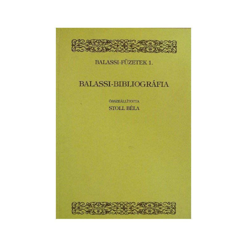 Balassi-bibliográfia