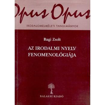 Bagi Zsolt, Az irodalmi nyelv fenomenológiája