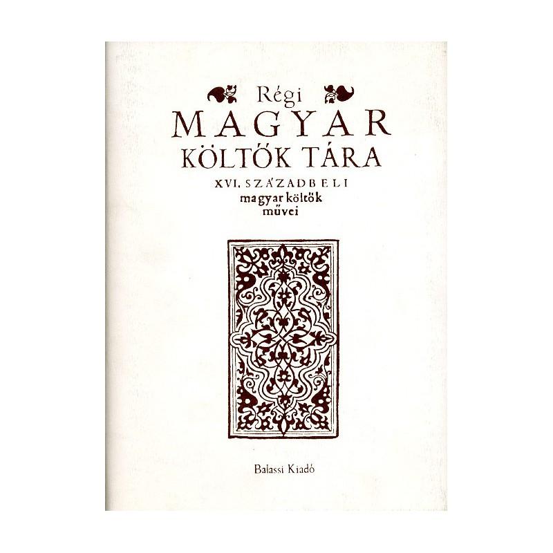 Régi magyar költők tára 12. kötet