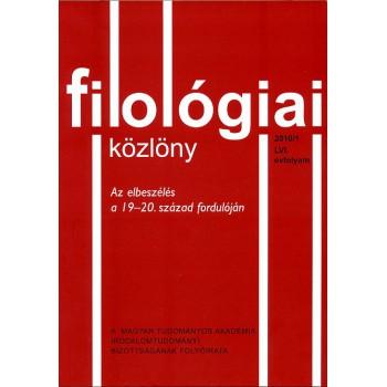 Filológiai Közlöny 2010/1