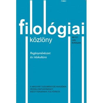 Filológiai Közlöny 2011/1