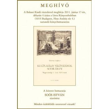 Vermes Gábor, Kulturális változások sodrában. Magyarország 1711 és 1848 között