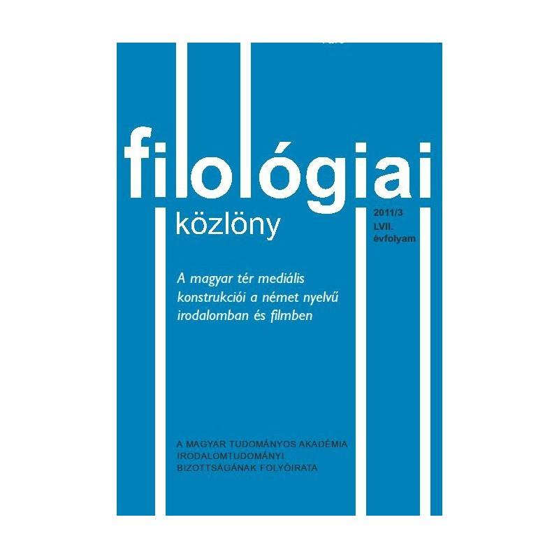 Filológiai Közlöny 2011/3
