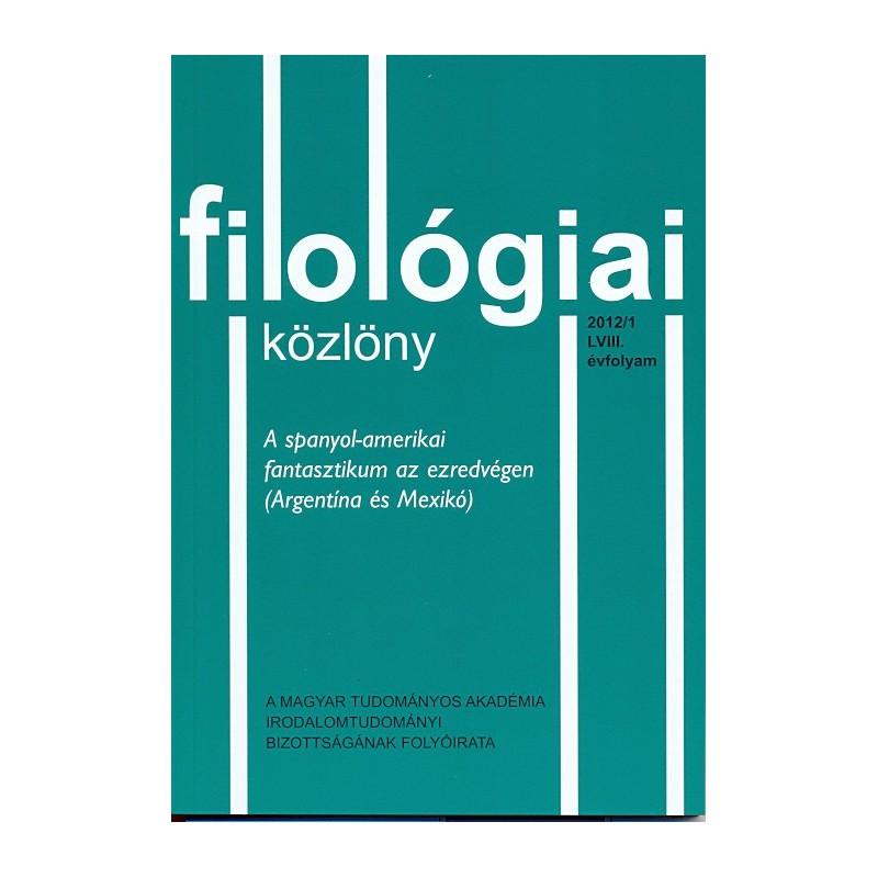 Filológiai Közlöny 2012/1