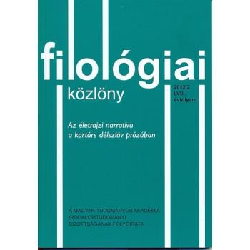 Filológiai Közlöny 2012/2