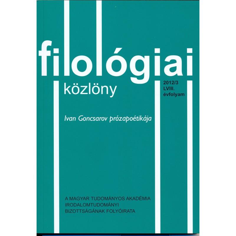 Filológiai Közlöny 2012/3