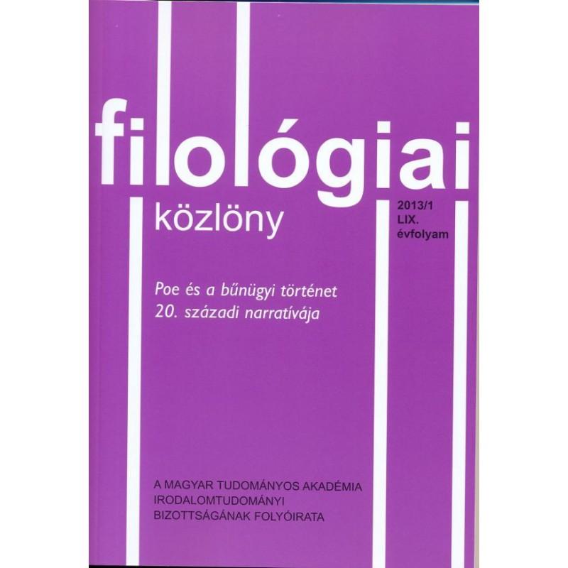 Filológiai Közlöny 2013/1