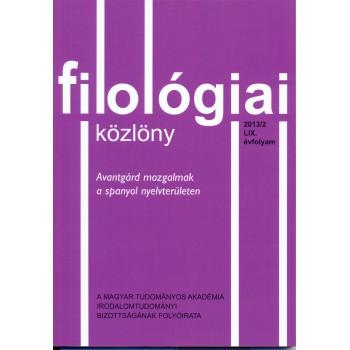 Filológiai Közlöny 2013/2