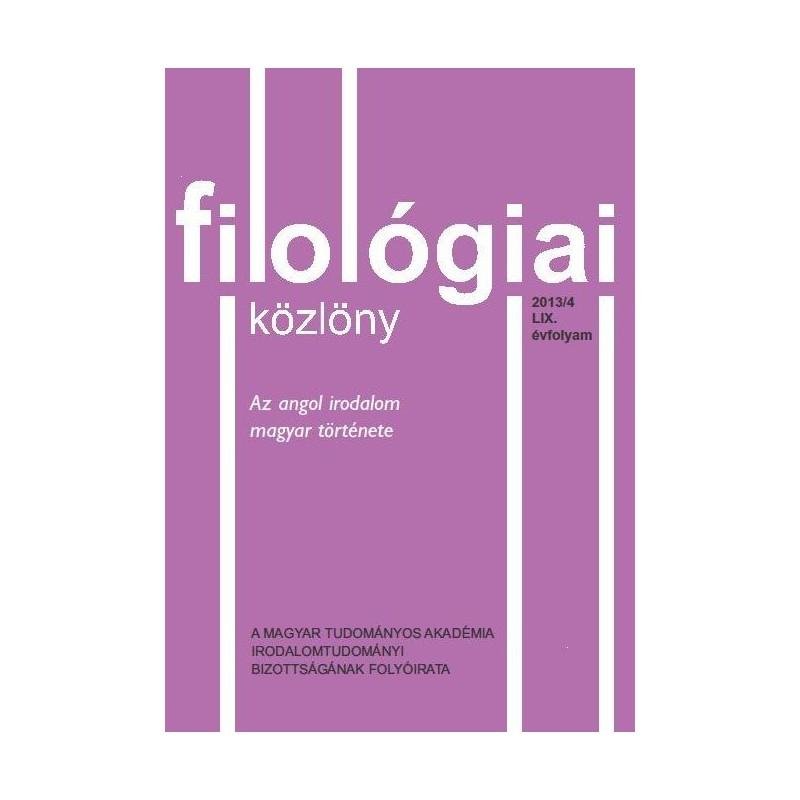 Filológiai Közlöny 2013/4